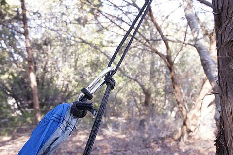 Latching the Carabiner - Hammock Setup